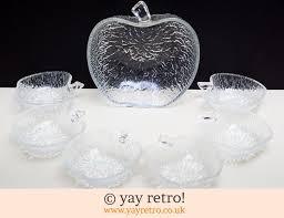italian apple glass vintage sundae dishes 14 00