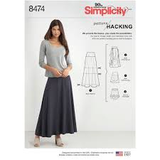 Simplicity Skirt Patterns Unique Misses Knit Skirt With Options For Design Hacking Simplicity Sewing