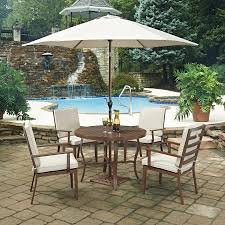 round outdoor dining sets. Home Styles Key West 7 Piece 42 In. Round Outdoor Dining Set With Umbrella  And Round Outdoor Dining Sets R