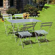 garden table and chairs set outdoor garden furniture set patio folding dining table chairs picnic steel garden table chair sets asda