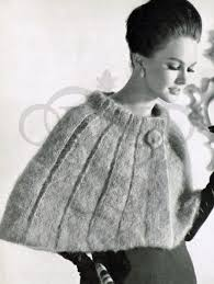 Vintage Knitting Patterns Mesmerizing Vintage Knitting PatternHow To Make A 48s Shoulder Cape