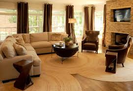 round rugs ikea with contemporary living room and coffee table floor lamp brown curtains tv above fireplace sofa