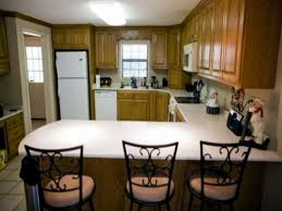 U Shaped Kitchen Small Small U Shaped Kitchen With Breakfast Bar Desk Design Smart