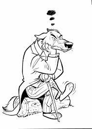 Wolf Is Boos Kleurplaat Jouwkleurplaten
