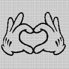 Disney Heart Crochet Afghan Pattern Graph