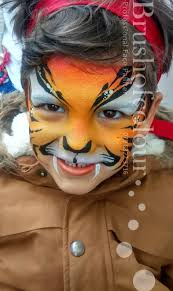 boy tiger face painting
