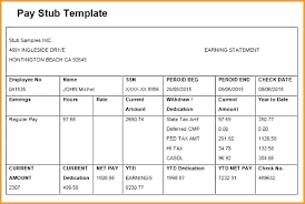 How To Create Pay Stubs In Excel Printable Paycheck Stub Template
