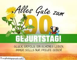 90 Geburtstag Geburtstagskarte Alles Gute Mit Schönem Spruch