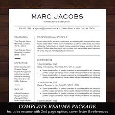 Creative Cover Letter Impressive Resume Template CV Template For Word Mac Or PC Professional