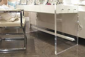 Image Home Office Lucite Desk Plant Jotter Acrylic Home Office Desks For Your Interior Design