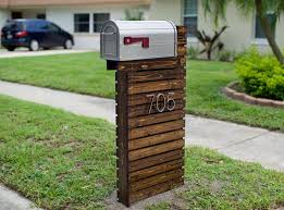 residential mailboxes and posts. They Revamped Their Boring Mailbox Into A Traffic-Stopping Piece Of Art! | Outdoor Dreams Pinterest Post, Woods And Diy Residential Mailboxes Posts L