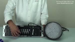 Dmx Lighting Controller Programming Part 1 Part I Par64 Led And Opt1216 Dmx Controller Connection And Setup