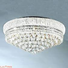 crystal light lamp close to ceiling chandelier low ceiling lighting chandelier for low ceiling crystal light round lamp lighting soft silver