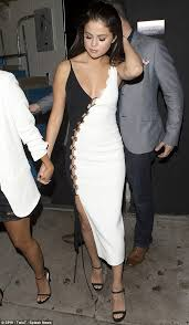 Plunging: Selena Gomez Made It A Rather Glamorous Affair As She Stepped Out  Wearing A