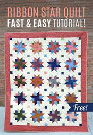 455 best Quilting Tutorials images on Pinterest | Quilt patterns ... & You won't believe how easy this Ribbon Star Quilt is to make! And Adamdwight.com