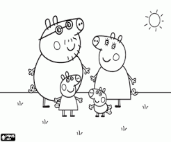 Peppa Pig Coloring Pages Printable Games