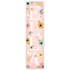 Jazlynn Boho Floral Personalized Growth Chart