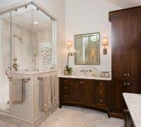 traditional shower designs. Traditional Shower Designs Bathroom With Dark Wood Vanity Custom Mirrors Beige Tile Wall T