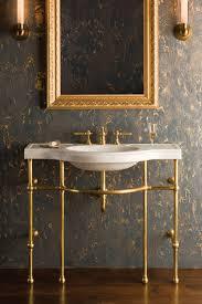 brass console sink.  Sink Renaissance Console Top With Brass Sink