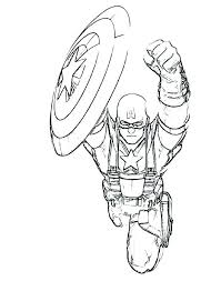 Captain America Winter Soldier Coloring Pages Civil War Boys Free