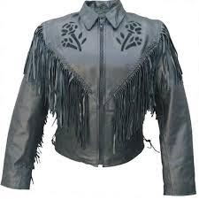 allstate side lace women black rose fringed beltless motorcycle jacket