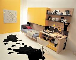 teen bedroom ideas yellow. Yellow Color Schemes For Modern Teenage Bedroom With Study Room Design Teen Bedroom Ideas Yellow