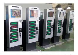 Phone Charging Vending Machine Magnificent Free Standing Cell Phone Charging Kiosk Lockers With Hotspot Wifi