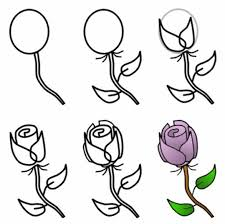 Easy To Draw Roses Simple Pencil Sketches Of Flowers Step By Step Flowers Healthy