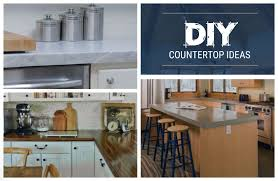 3 diy countertop ideas