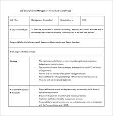 Accountant Job Description Template 40 Free Word PDF Format Adorable Job Description Template Word
