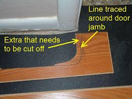 hallways when installing the last row of laminate flooring in hallway under door jamb