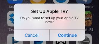 how to set up and configure your apple tv on your ios device you ll be guided through a series of prompts first you ll be asked if you want to set up your apple tv as seen above then you ll be