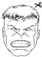 Maschera Di Hulk Per Bambini Da Stampare Gratis