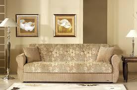 Two-Tone Fabric Living Room w/Storage Sleeper Sofa