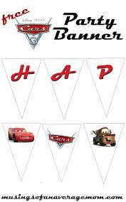 Free Cars Printables Cars 3 Party Banner Cars Printables Pinterest Cars Birthday