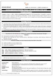 student resume format sample mba freshers resume format