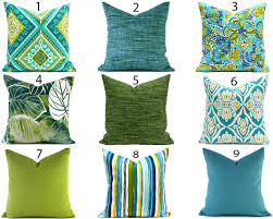 Blue Outdoor Pillows ANY SIZE Outdoor Cushions Outdoor Pillow