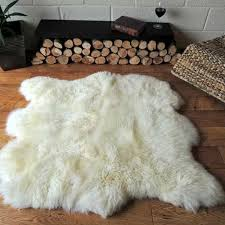 double irish sheepskin rug side by side 120cm