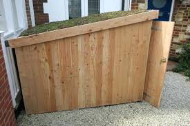 wooden kitchen trash can holder trash can storage shed kitchen trash can outdoor garbage can wooden
