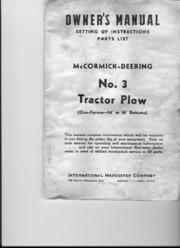 19078764 ford tractor models 2000 3000 4000 and 5000 operators 45793197 mccormick deering no 3 tractor plow owners manual lr