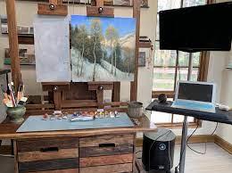 an easy diy artist s workstation