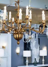 vintage hand hammered tole chandelier finished with gold leaf two levels with a total