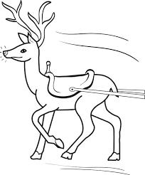 Christmas Reindeer Coloring Pages Reindeer Christmas Reindeer