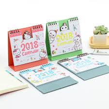 creative cartoon desk calendar new 2017 2018 plan calendar 2018 student desk calendar diy desk calendar cute desktop calendar lunar kt cat 2017 2018
