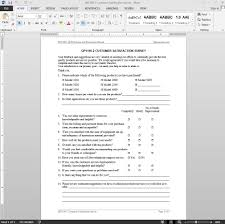 Satisfaction Survey Satisfaction Survey ISO Template 1