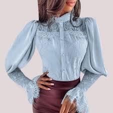 <b>Cysincos</b> Chiffon Blouses <b>Women</b> 2019 Autumn Fashion Long ...