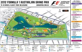 Albert Park Circuit Map For The 2012 Formula 1 Australian