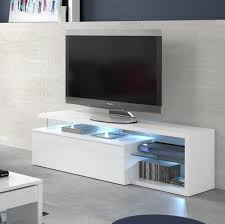 Gallery Of Ledd Meuble Tv Avec Led Contemporain Blanc Et Tablettes