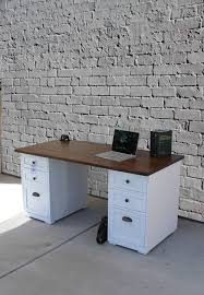 painted office furniture. 6 Drawer Chic Desk / Rustic Painted Drawers Office Shabby Furniture I