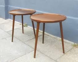 3 leg side table round designs three legged wooden